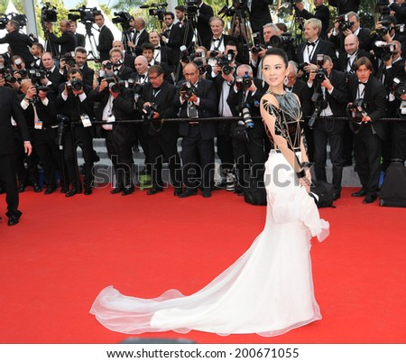 "CANNES, FRANCE - MAY 14, 2014: Zhang Ziyi at the gala premiere of ""Grace of Monaco"" at the 67th Festival de Cannes.  - stock photo"