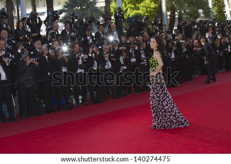 CANNES, FRANCE - MAY 26: Zhang Ziyi attends the Premiere of 'Zulu' and the Closing Ceremony of The 66th  Cannes Film Festival at Palais on May 26, 2013 in Cannes, France. - stock photo