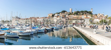 Cannes le Suquet old quarter France