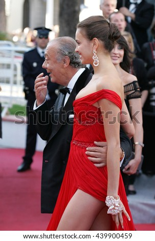 CANNES - MAY 22, 2012: Irina Shayk attends the Killing Them Softly Premiere - 65th Annual Cannes Film Festival on May 22, 2012 in Cannes - stock photo