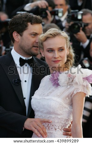CANNES - MAY 22, 2012: Joshua Jackson and Diane Kruger attends the Killing Them Softly Premiere - 65th Annual Cannes Film Festival on May 22, 2012 in Cannes - stock photo