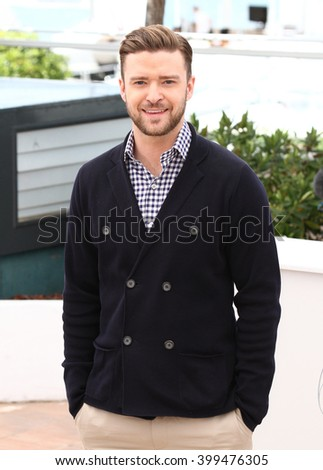 CANNES - MAY 22, 2013: Justin Timberlake attends a photocall at the Cannes film festival on May 22, 2013 in Cannes     - stock photo