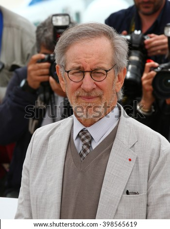 CANNES - MAY 15, 2013: Steven Spielberg seen at the Cannes film festival on May 15, 2013 in Cannes  - stock photo