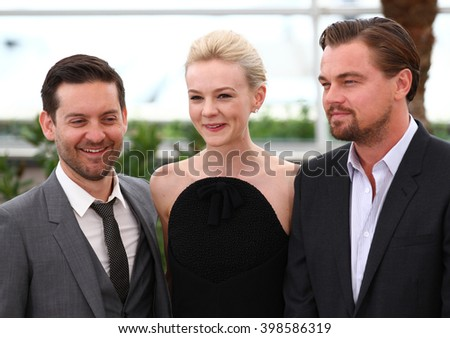 CANNES - MAY 15, 2013: Tobey Maguire and Carey Mulligan attend a photocall for The Great Gatsby on May 15, 2013 in Cannes