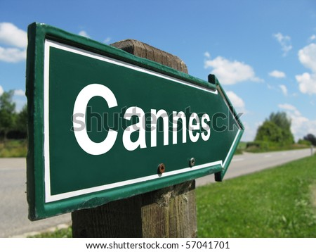 CANNES road sign