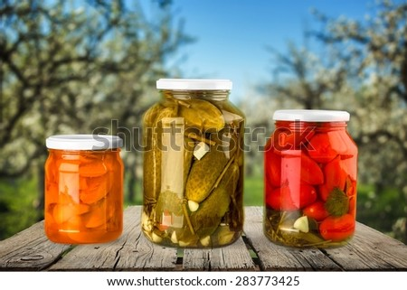 Canning, Jar, Food.