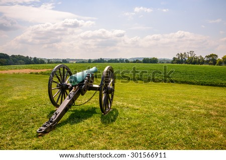 Cannon at Monocacy National Battlefield - stock photo