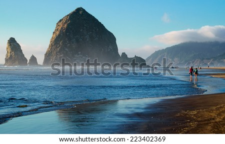Cannon Beach Landscape, Oregon USA - stock photo