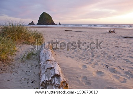Cannon Beach Sunset - stock photo
