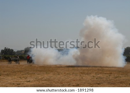 Cannon fire, Civil War reenactment, Clements, California