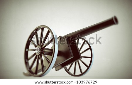 cannon il old picture isolated on white background - stock photo