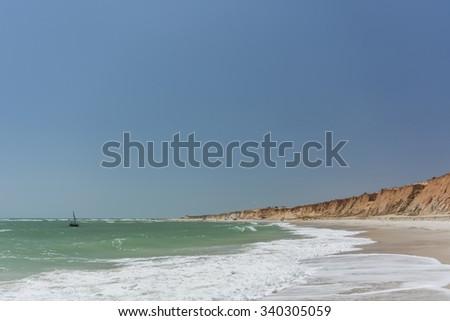 Canoa Quebrada Beach, Ceara, Brazil - stock photo