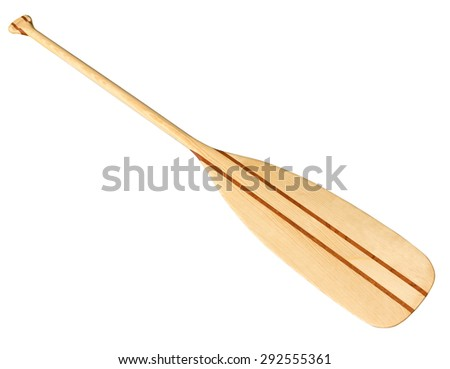 Canoe paddle isolated on white. Clipping path included.