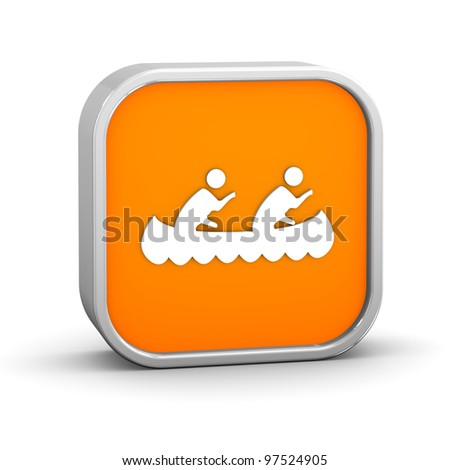 Canoe sign on a white background. Part of a series. - stock photo