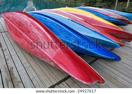 Canoe Stack - stock photo