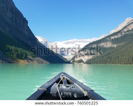 Canoeing Lake Louise