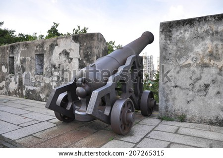 canon artillery - stock photo