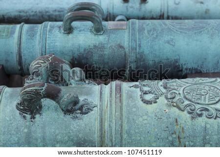 Canon detail.  Castillo de San Marcos.  St. Augustine, Florida. - stock photo