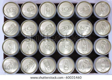 cans background - stock photo
