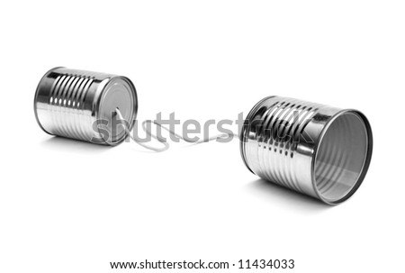 Cans communication - stock photo