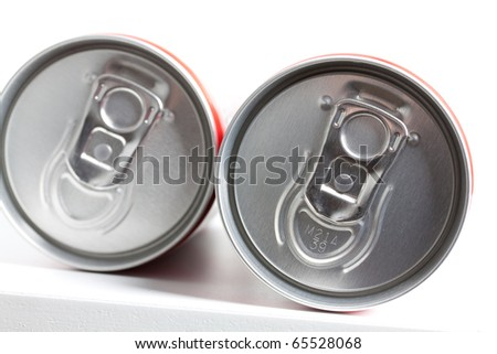 Cans filled with soda