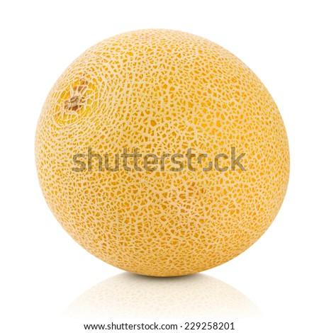 cantaloupe melon isolated on white Clipping Path  - stock photo
