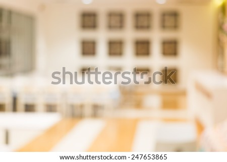 canteen blur background with bokeh - stock photo