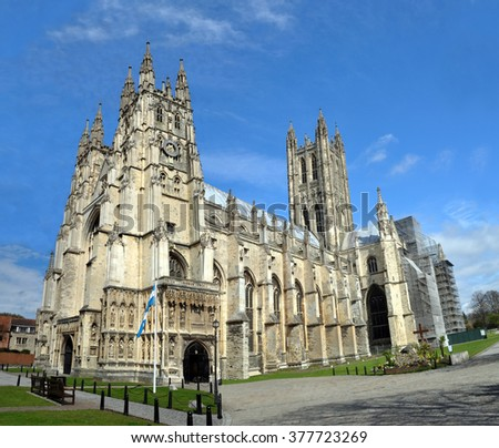 Canterbury Cathedral in England - the World headquarters of the Anglican Church.