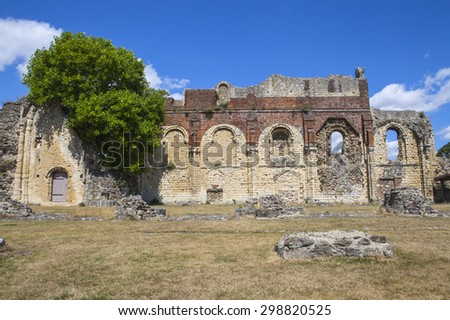 CANTERBURY, UK - JULY 19TH 2015: The remains of the historic St. Augustines Abbey in Canterbury, Kent on 19th July 2015.