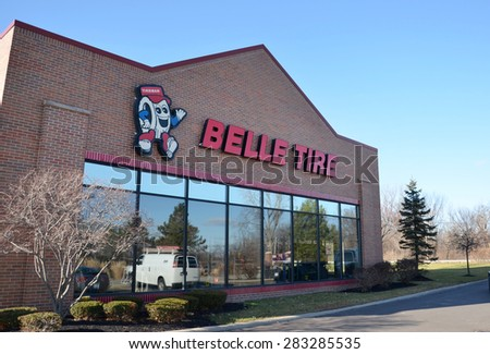CANTON, MI - DECEMBER 29:  Belle Tire, whose Canton location is shown on December 29, 2014, has 85 locations.