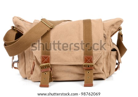 Canvas bag - stock photo