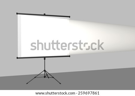 Canvas is in the lecture room - stock photo
