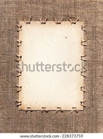 canvas label - stock photo
