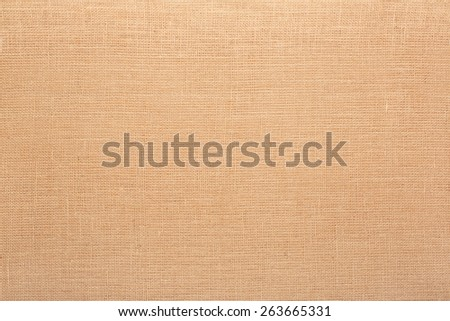 Canvas, natural brown fabric texture background - stock photo