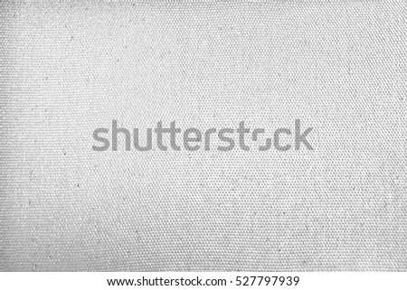 canvas texture background - white fabric line blank page note material gray backdrop