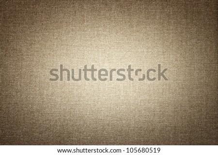 Canvas texture with vignette - stock photo
