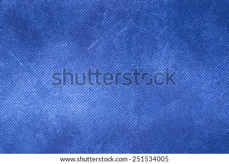 Canvas textured blue background. - stock photo