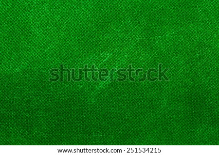 Canvas textured green background. - stock photo