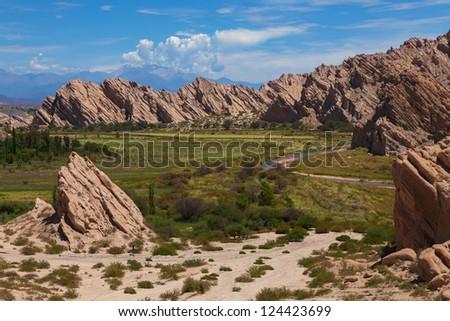 Canyon Corte, Quebrada de Cafayate, Argentina - stock photo