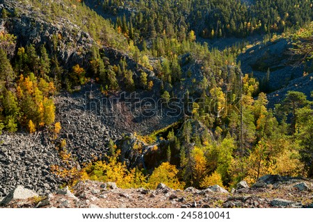 canyon in finland - stock photo