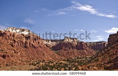 Canyon near Abiqu, New Mexico, just north of Santa Fe - stock photo