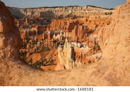 Canyon Overlook Bryce Canyon National Park Utah - stock photo