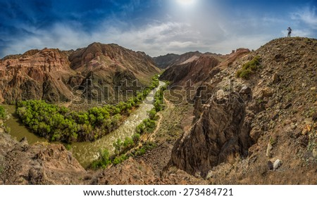 Canyon River - stock photo