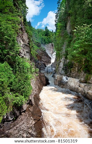 Canyon Ste-Anne, Quebec, Canada - stock photo