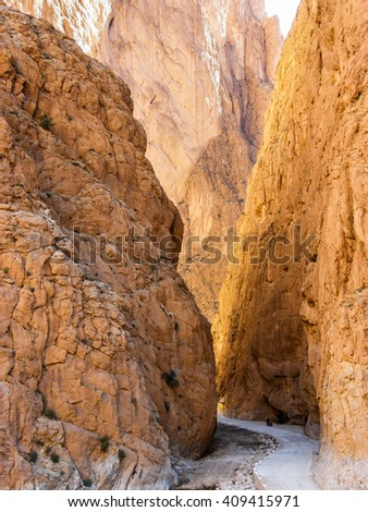 Canyon Todra Gorge  - stock photo