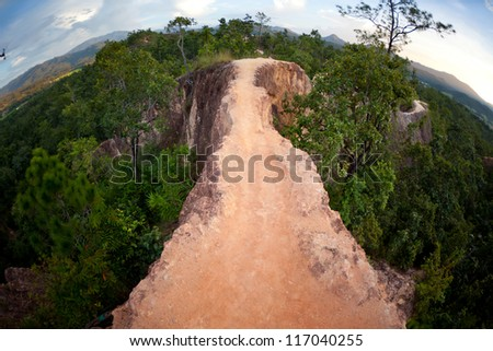 Canyon Way Mountain in Pai Maehongson ,Thailand - stock photo