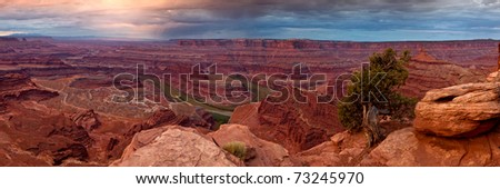 Canyonlands from Dead Horse point, Utah - stock photo