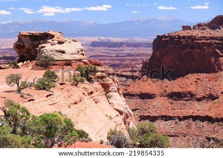 Canyonlands National Park in Utah, USA. Island in the Sky district. - stock photo