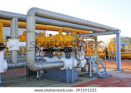 Caofeidian - October 1: oil refinery equipment in jidong oilfield, on October 1, 2016, caofeidian, hebei province, China