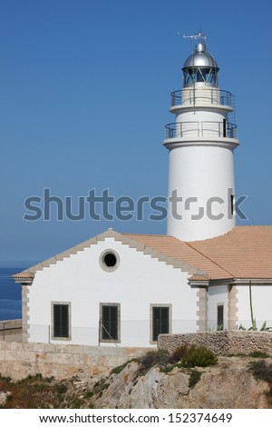 Cap de Capdepera Lighthouse. Mallorca island, Spain